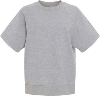 Tibi Short Sleeve Cotton Sweatshirt
