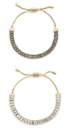 BaubleBar Edelmira 2-Pack Crystal Bracelets