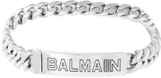 Balmain embossed logo choker