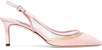 Jimmy Choo Erin 60 Pvc And Leather Slingback Pumps - Baby pink