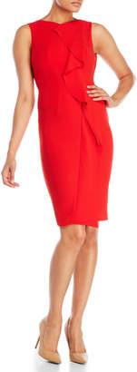Karen Millen Crepe Ruffle Dress