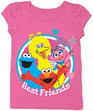 Freeze Sesame Street Best Friends Tee (Toddler & Little Girls)