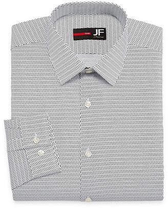 Jf J.Ferrar Easy-Care Stretch Big & Tall Long Sleeve Broadcloth Pattern Dress Shirt