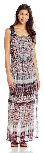 Trixxi Juniors Keyhole Casual Maxi Dress
