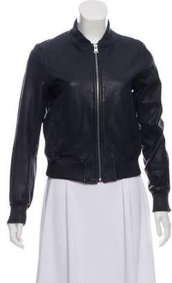 June Leather Bomber Jacket