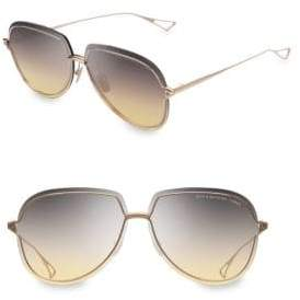 Dita Eyewear Women's Nightbird-Three 62MM Aviator Sunglasses - White Gold