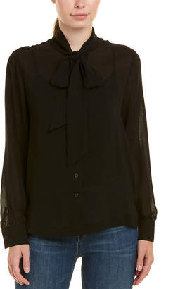 David Lerner Tie-Neck Top