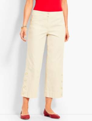 Talbots Canvas High-Waist Wide Crop