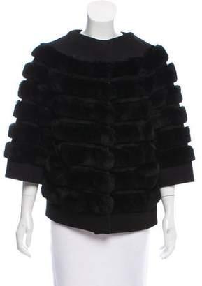 Armani Collezioni Short Sleeve Fur Jacket