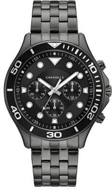 Bulova CARAVELLE Designed by Caravelle Men's Chronograph Watch, Gunmetal IP Bracelet - 45A144