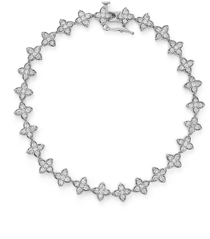 Diamond Flower Tennis Bracelet in 14K White Gold, 2.0 ct. t.w. - 100% Exclusive