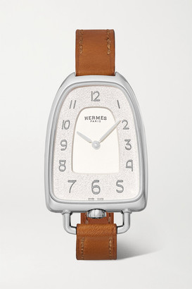 Hermes Timepieces - Galop D'hermès 26mm Medium Stainless Steel And Leather Watch - Silver