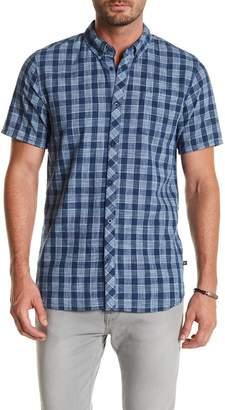 Indigo Star Heero Short Sleeve Yarn Dyed Tailored Fit Shirt