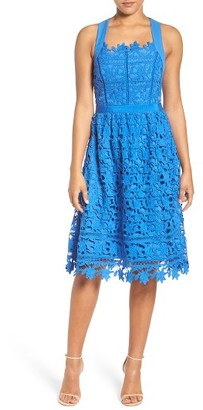 Women's Adelyn Rae Lace Fit & Flare Dress $112 thestylecure.com