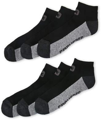 Converse 6-Pack Black Logo Low-Cut Socks