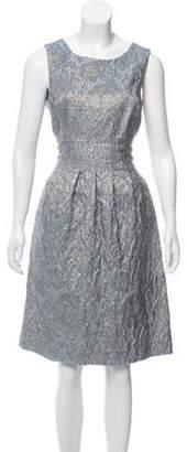 Lela Rose Embroidered Midi Dress blue Embroidered Midi Dress