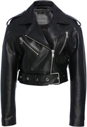 Proenza Schouler Waxy Leather Biker Jacket