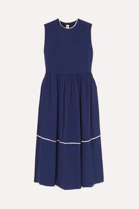 Marni Piped Crepe De Chine Dress - Blue