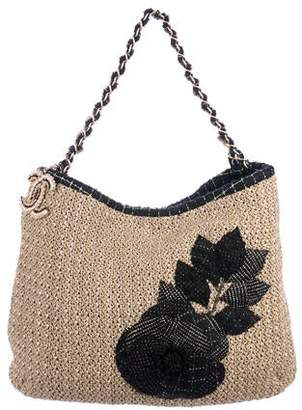 Chanel Coco Country Straw and Tweed Bag