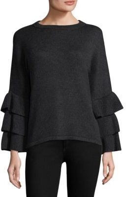 Design History Exclusive Ruffle Sleeve Sweater $185 thestylecure.com