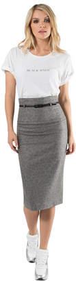 Black Halo High Waist Pencil Skirt
