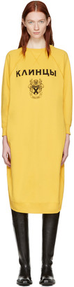 Junya Watanabe Yellow Pullover Dress $500 thestylecure.com