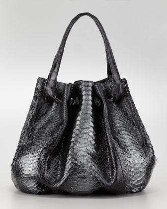 Nancy Gonzalez Python & Crocodile Knot Tote Bag