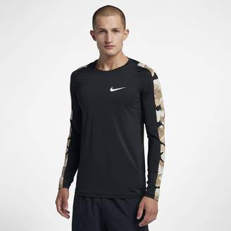 Nike Pro Men's Long-Sleeve Camo Top