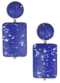Lele Sadoughi Mosaic Garden Keepsake Stone Post Earrings