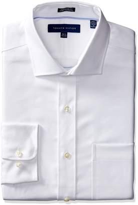 Tommy Hilfiger Men's Long Sleeve Regular Fit Non-Iron Dress Shirt