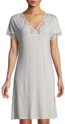 Zimmerli Met Tropical Lace-Inset Sleepshirt