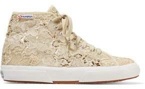 Superga Macramé Lace High-Top Sneakers