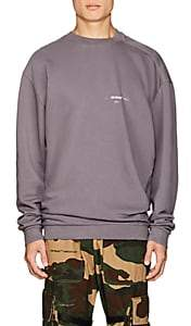 Off-White Men's Logo Twisted Cotton Terry Sweatshirt-Gray