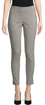 Calvin Klein Plaid Pull-On Stretch Pant