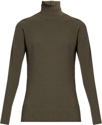 HAIDER ACKERMANN Roll-neck cotton and wool-blend sweater $305 thestylecure.com