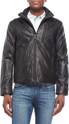 Michael Kors Black Faux Leather Jacket