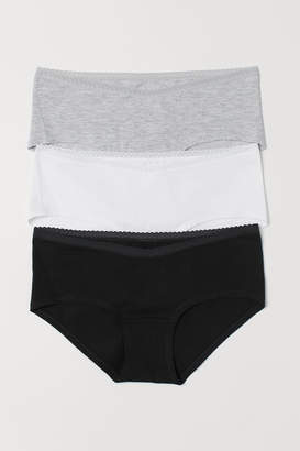 H&M MAMA 3-pack Hipster Briefs - Gray