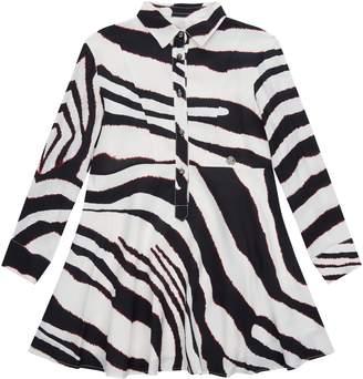 Roberto Cavalli Zebra Print Shirt Dress