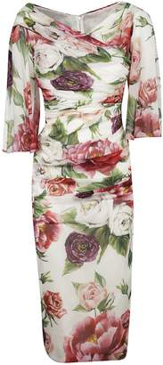 Dolce & Gabbana Fitted Floral Dress