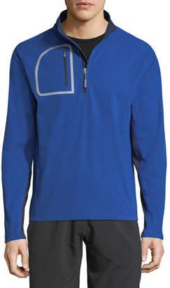 Peter Millar Men's Windsuede Quarter-Zip Sweater