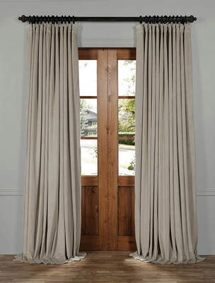 Half Price Drapes Signature Solid Extra Wide Velvet Blackout Rod Pocket Single Curtain Panel