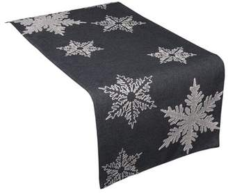 The Holiday Aisle Snowflake Embroidered Christmas Table Runner