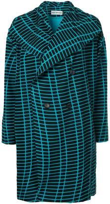 Issey Miyake graphic print coat