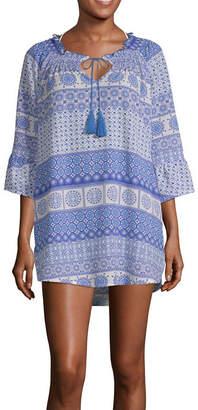 Porto Cruz Crepe Swimsuit Cover-Up Dress