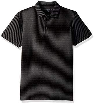 French Connection Men's Double Face Alternative Stripe Shortsleeve Polo