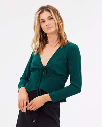 Atmos & Here Candice Tie Front Top