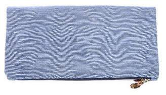 Clare Vivier Textured Leather Fold-Over lutch
