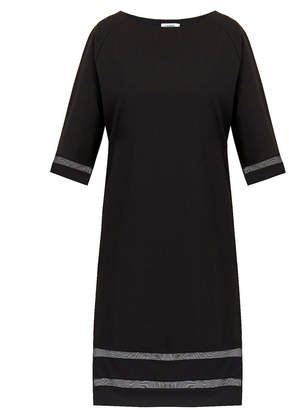 J. Lindeberg Leah Black Sheer Panel Dress