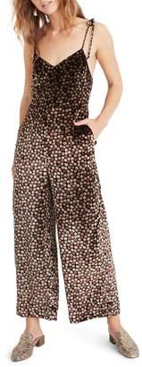 Madewell Thistle Velvet Cami Jumpsuit