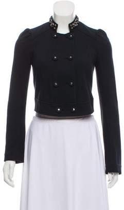Rebecca Taylor Embellished Knit Blazer